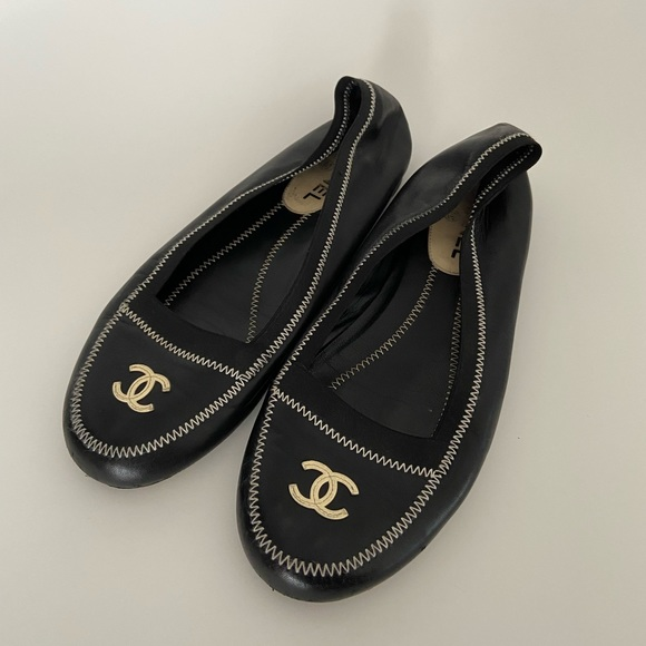 Chanel Leather Flats